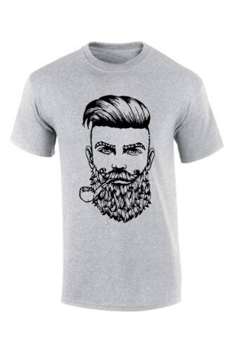 Beard Pipe Bearding T-Shirt Smart Stylish Beard Quality Xmas Christmas Gift tee