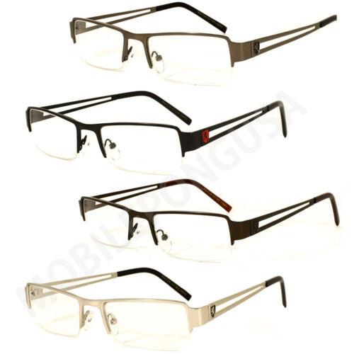 New Fashion Frame Classic Designer Clear Half Rimless Khan Eyeglasses Mens Women