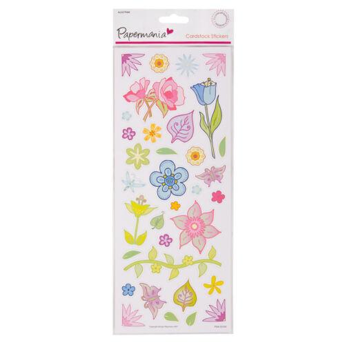 Anitas Muy Colorido Flores Pegatinas de cartulina para tarjetas y manualidades
