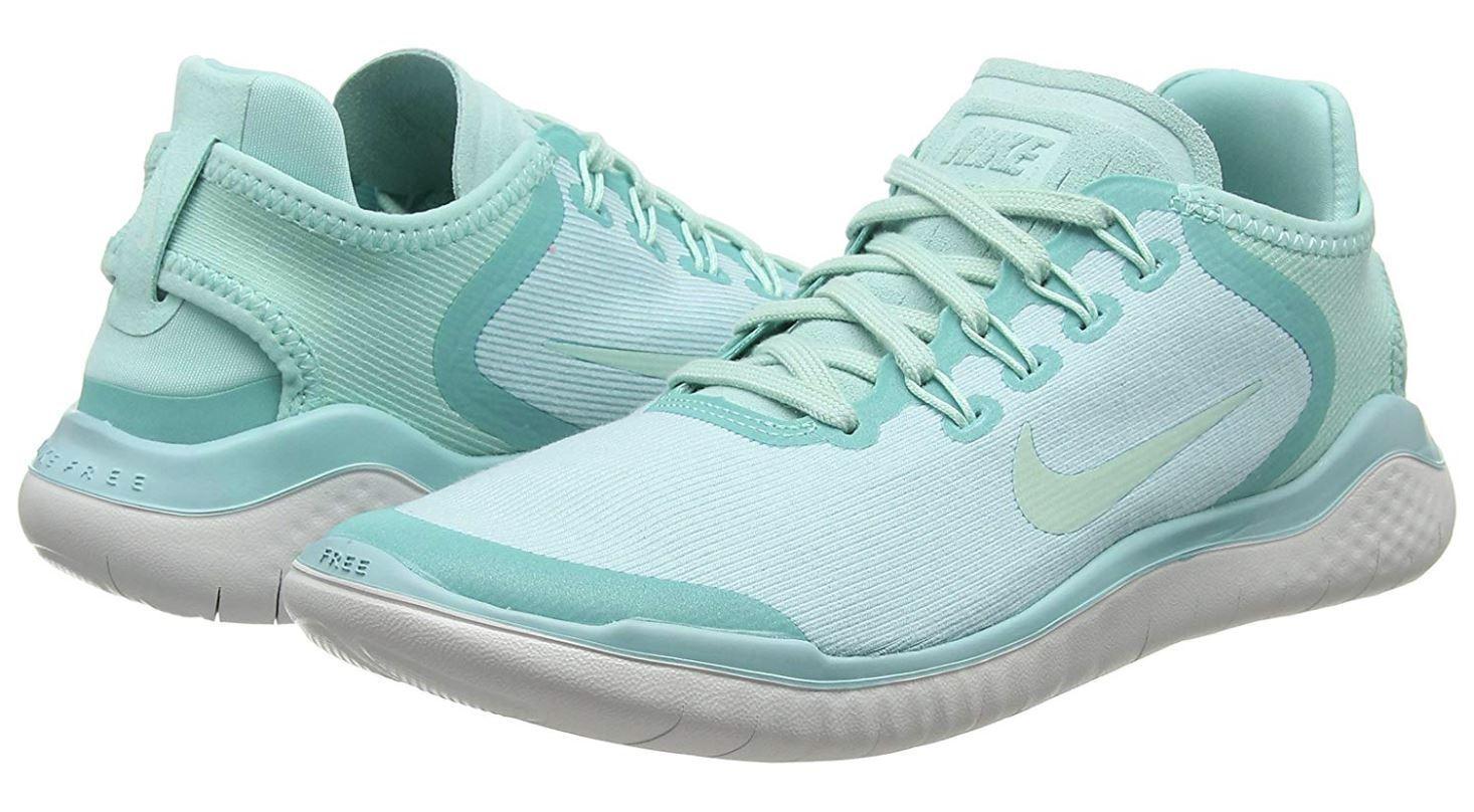 Nike kvinnor Free RN springaning skor; Island grön    Vast grå; Storlek 6.5, 7, 8.5 & 9  modern