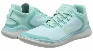 Nike Women Free RN Running Shoe; Island GreenVast Grey