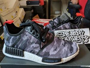a03c21574f2679 Adidas NMD R1 Nomad Boost Print Black Grey Camo White Red Running ...