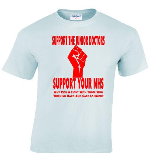 Les jeunes médecins soutien T-shirt NHS sauver les Infirmières Hôpital chemise protestation santé