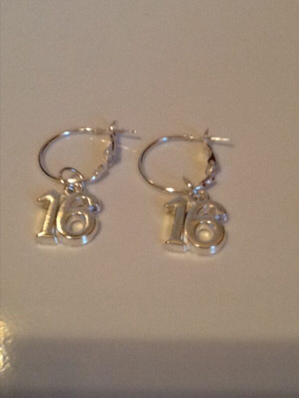 Age 16 Hoop Earrings Silver In Colour