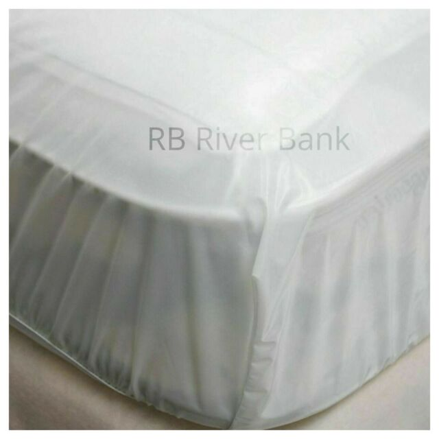 SINGLE SIZE FITTED PVC VINYL WATERPROOF MATTRESS PROTECTOR COVER ALL SIZES