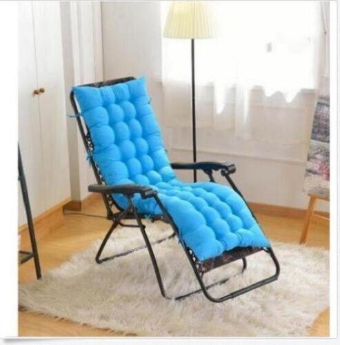 Cotton Seat Pad Replacement Garden Cushion Garden Sun Lounger Recliner Chair UK