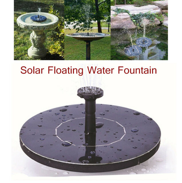 150L/h Solar Powered Floating Pump Water Fountain Birdbath Home Pool Garden Deco