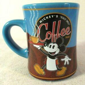 Disney Parks Mickey Coffee Mug Mickeys Really Swell Coffee Blend Blue 16 oz | eBay