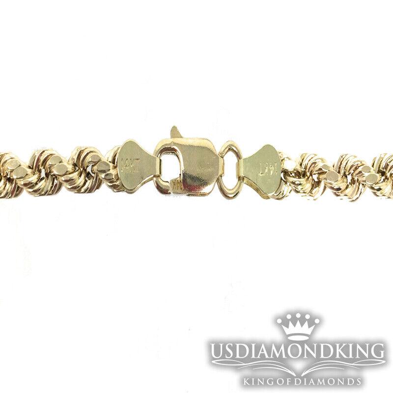 Puro Vero 14k 100% oro Giallo con con con Incavatura Collana di Corda Uomo Donna c887c9