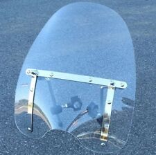 "19""x17"" Motorcycle Clear Windshield For Yamaha Road Royal V Star Virago XT XS XJ"