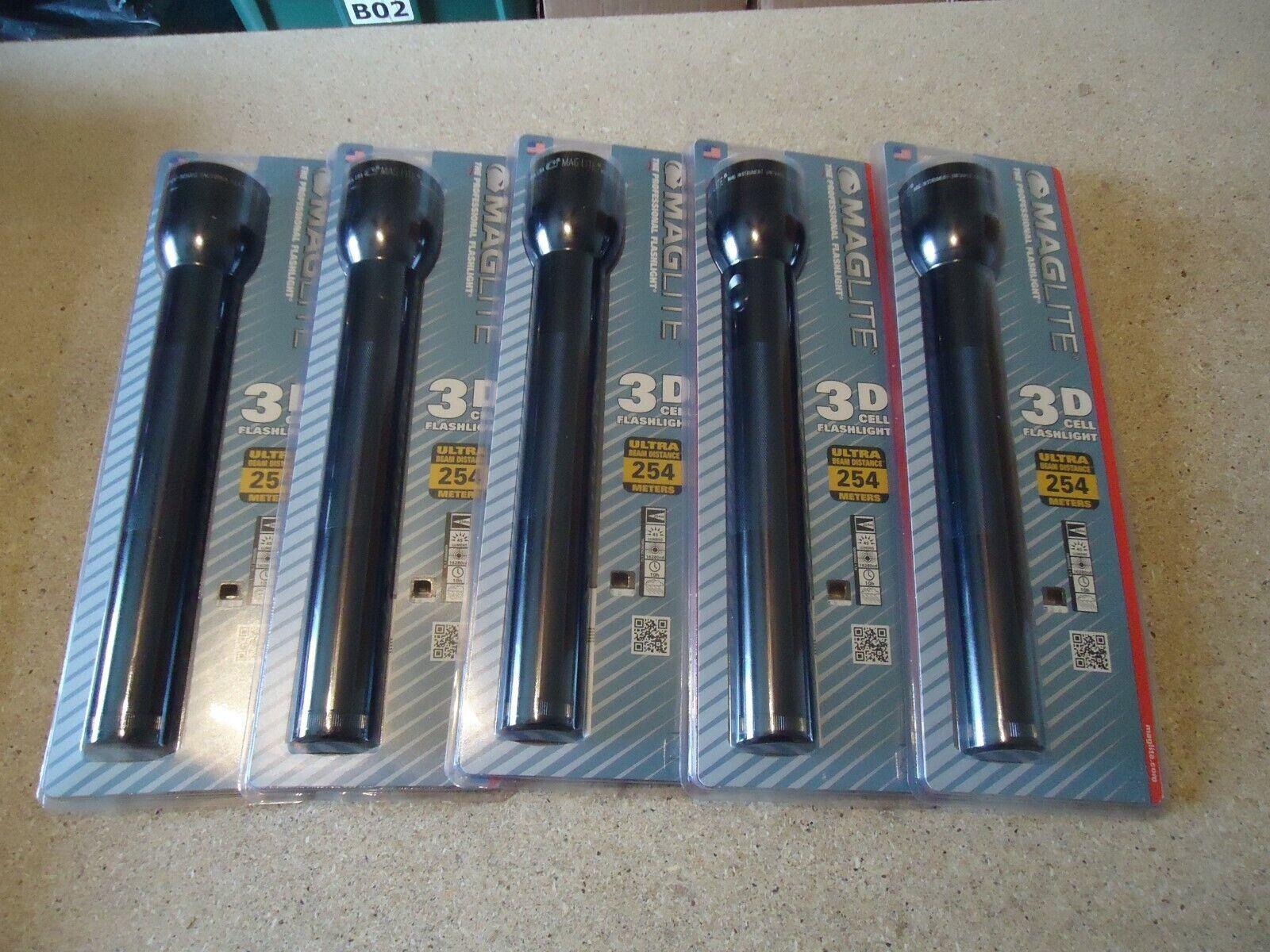 Mag-Lite 3D Linterna Profesional Celular 5PC Lote de 254 metros nuevo viejo Stock nuevo en paquete TS3D016K