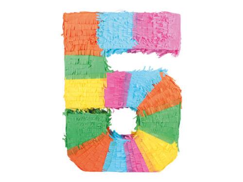 Pinata Zahlen 0-9 Kinder Geburtstag 48 x 37 cm Dekoration Geburtstagsdeko Party