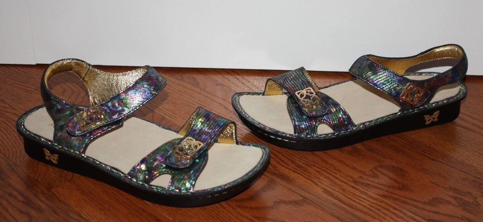 NEW Damenschuhe Alegria Schuhes Vie 155 Multi-Farbe Leder Sandales Schuhes Alegria Größe 39 989a78