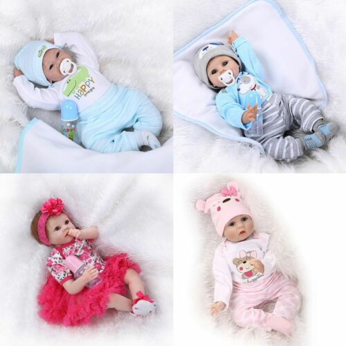 Modern Doll Reborn Baby Doll Clothes 22 Inch 50-55 cm Silicone Doll Kids Gift