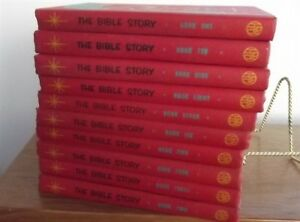 The-Bible-Story-red-books-1-10-10-Volume-Set-Hardcover