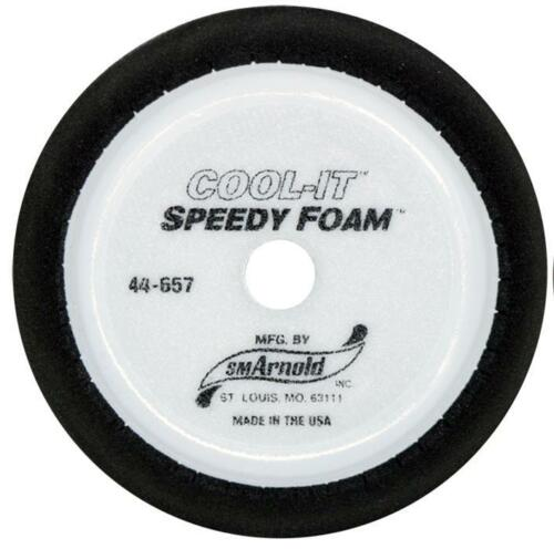 """7 Inch SM Arnold Cool-It Speedy Foam Black Finish Pad for 5/"""" Backing Plate 44657"""