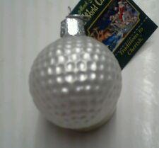 "OWC ""Golf Ball"" Ornament-GLASS Old World Christmas Golfing"