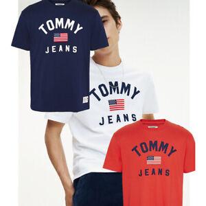 T-Shirt-uomoTommy-Hilfiger-DM0DM07068-maglia-manica-corta-blu-rosso-bianco-coton