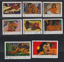 Manama 1971 used Mi.875/82 A Gemälde Paintings Paul Gauguin Kunst Art Kultur