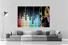 DAFT PUNK DIGITALE MUSIC MIXER DJ Da parete Arte Poster Grande formato A0