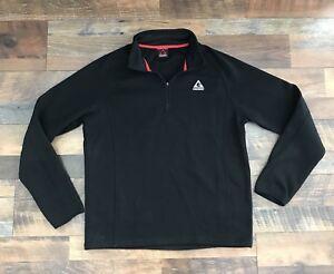 d0622bc3 Gerry Jacket Pullover Sweatshirt Mens Large 1/4 Zip Hoodie Black | eBay