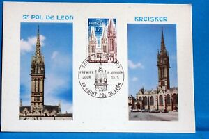 SAINT-POL-DE-LEON-FINISTERE-FRANCE-CPA-Carte-Postale-Maximum-Yt-1810-C