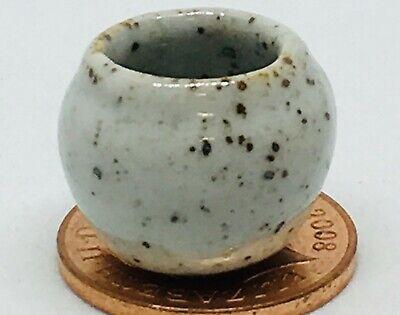 1:12 Scale Blue 3cm High Ceramic Vase Tumdee Dolls House Ornament Flower B48