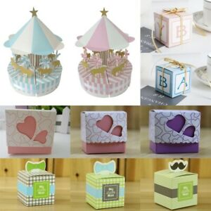 Details About 50pcs Cute Letters Candy Sweets Gift Boxes Girl Boy Baby Shower Birthday Favors