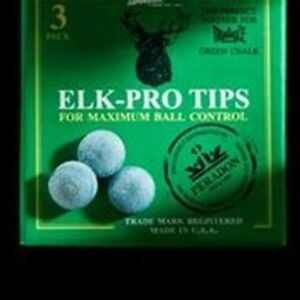 8mm x 5 Elkmaster glue on snooker pool cue tips