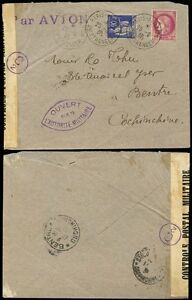FRENCH-INDOCHINA-1939-SEPT-CENSOR-to-BENTRE