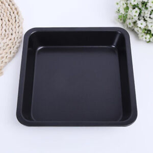 Nonstick-Square-Bakeware-Kitchen-Baking-Toast-Pan-Durable-Steel-8inch-Black