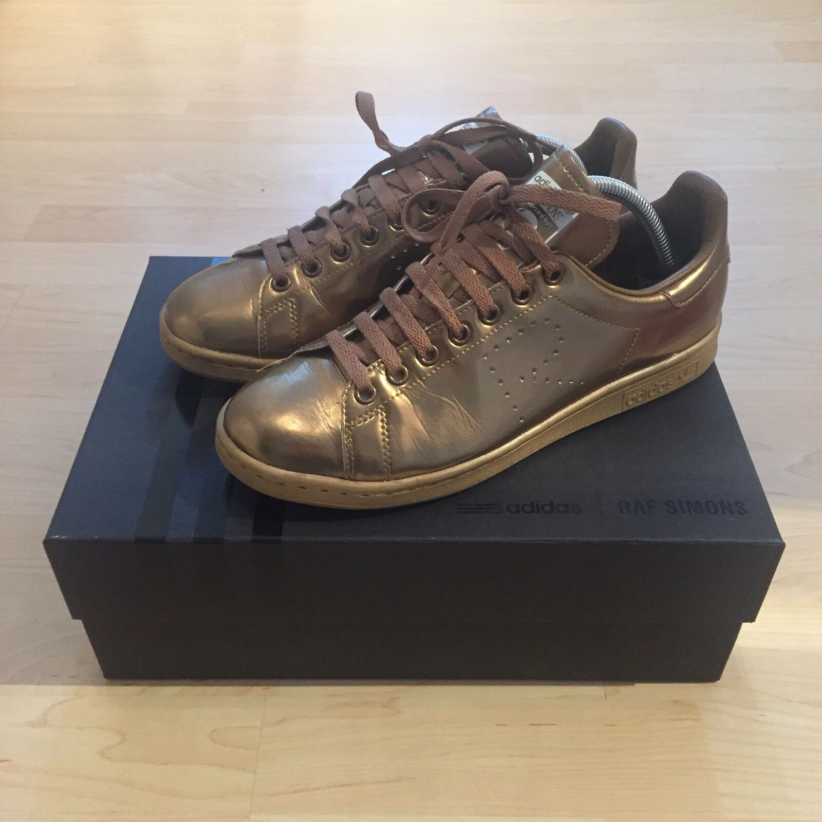 ADIDAS Raf Simons Stan Smith Bronze Copper Gr. 42.5 / 8.5 S75937 Gold