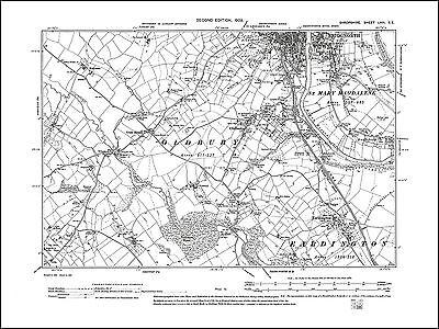 OLD ORDNANCE SURVEY MAP DUDLEY BRIDGNORTH 1898 BILSTON SEDGLEY TIPTON OLDBURY