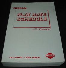 Richtzeiten Katalog Nissan Micra Sunny Primera 300 ZX Twin Turbo Schedule 1992