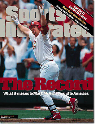 September 14, 1998 Mark McGwire St. Louis Cardinals SPORTS ILLUSTRATED NO LABEL