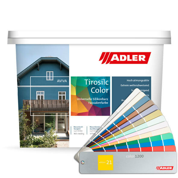 (15.31EUR/1l) ADLER Aviva Tirosilc-Farbe 9l Fassadenfarbe Farbe Außen Fassade