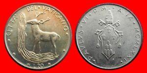 20 Liras 1971 Sin Circular Vaticano-0925sc