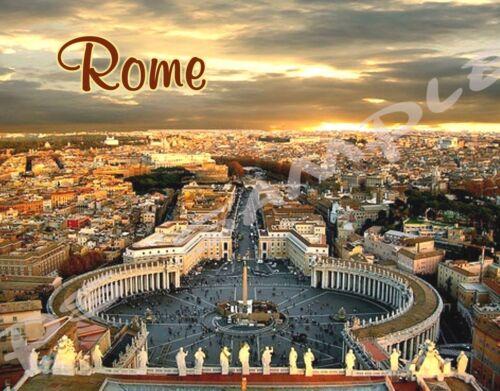 Italy Travel Souvenir Flexible Fridge Magnet OVERLOOKING CITY ROME