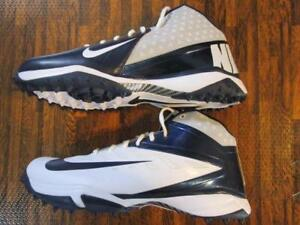 Nike-Air-Vapor-Pro-3-4-Destroyer-Football-Turf-Shoe-Cleats-15-White-Navy-Nubby
