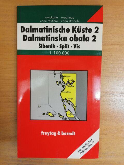 FuB Dalmatinische Küste 02. Sibenik - Split - Vis 1 : 100 000 (2003, Mappe) GUT