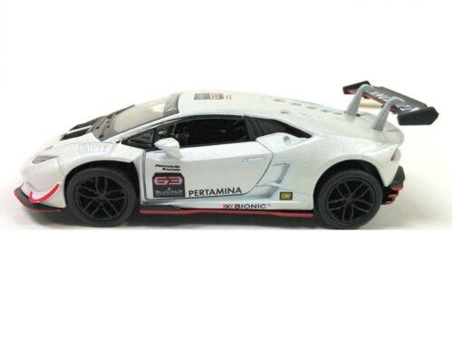 "Kinsmart 5/"" Lamborghini Huracan LP620-2 Super Trofeo Diecast Model 1:36 White"