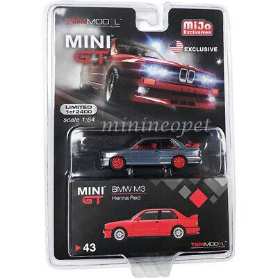 E30 Red LHD Diecast Model Car MINI GT 1:64 BMW M3