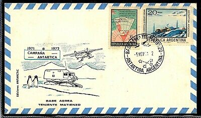 Strict Aant-208 Argentina 1971 Antarctic Antarctica Matienzo Station Cover Postmarks We Have Won Praise From Customers Latin America