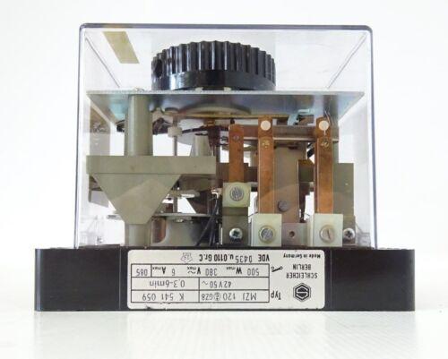 Schleicher Mikrolais MZJ120 GZ8 Zeitrelais Time Relay 0,3-6min K541059 UNBENUTZT