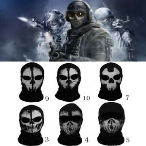 Motorcycle Full Face Mask Call Of Duty 10 Ghost Balaclava Cycling Game Airsoft Ebay