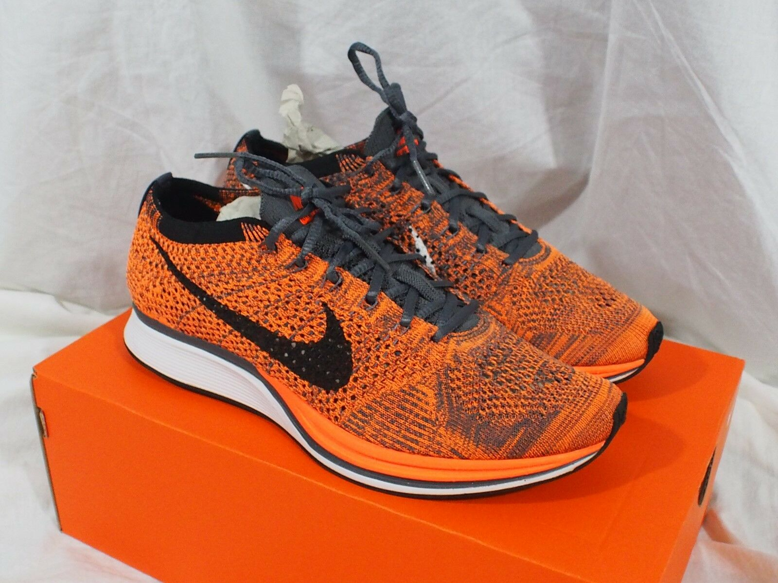 Nike Flyknit Racer Total Orange Chester Cheetah 526628-810