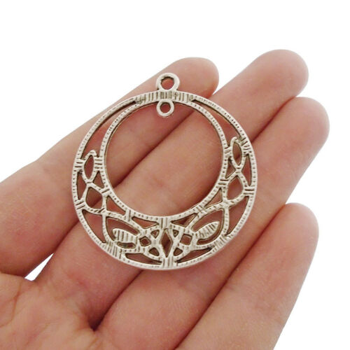 5 x Tibetan Silver Celtic Knot Dangle Connector Circle Charms Pendants Beads