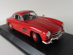 Mercedes-benz 300 Sl 1955 Rot 1/18 Minichamps 110037211 Pma W198 Mercedes
