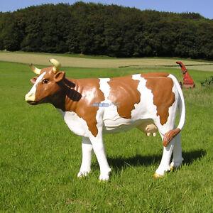 Deko Kuh Figur Milchviehhaltung Bauernhof Werbefigur Statue Skulptur  neu