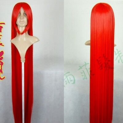 Cosplay Fashion Wig New Long Red Cosplay Party Wig Hair 150cm
